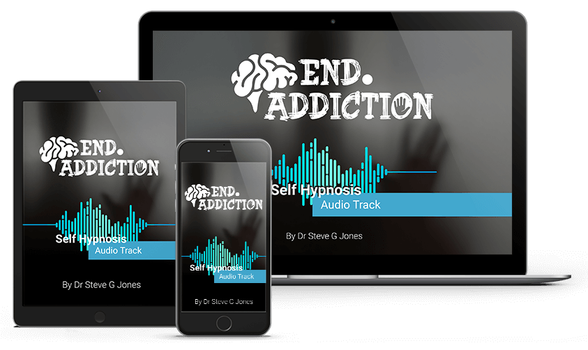 Stop Addiction Image on Computer, Tablet and Phone