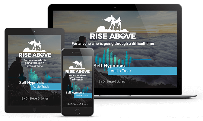Rise Above Emotional Pain Image on Computer, Tablet and Phone